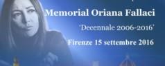"Firenze, 15 settembre 2016: ""Standing ovation per Oriana Fallaci"""