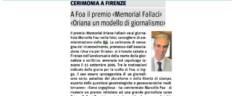 Rassegna Stampa Premio Oriana Fallaci 2018