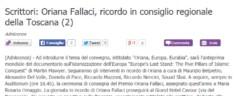 Memorial Oriana Fallaci 2014 – Rassegna Stampa